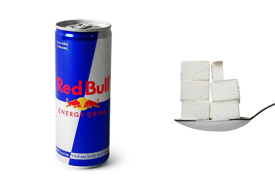 Una lattina di Red Bull? 5,5 zollette