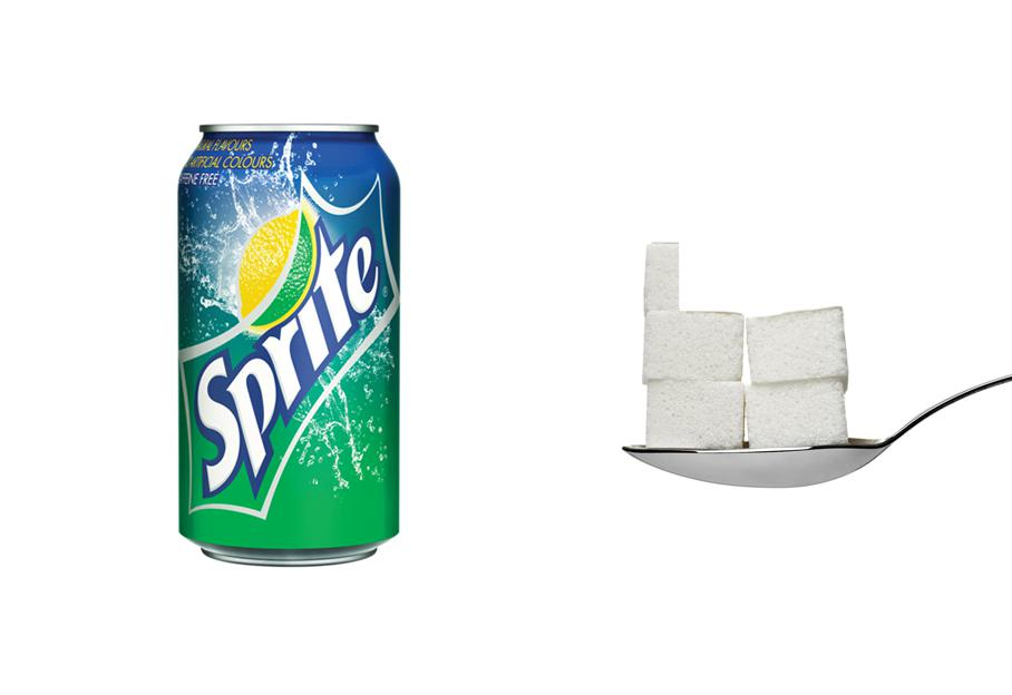 Una lattina di Sprite? 4,4 zollette